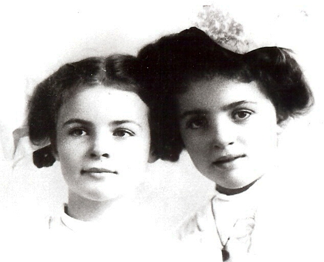 Becky and Joan London as children