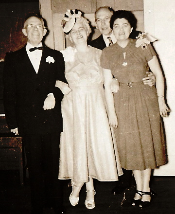 Becky and Joan London with Husbands, c. 1950.