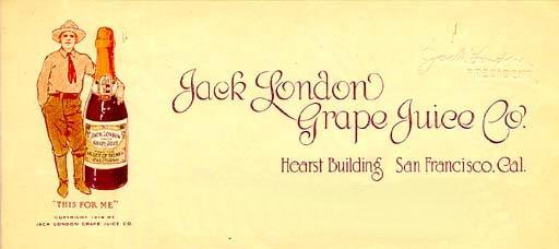 Jack London Grape Juice label